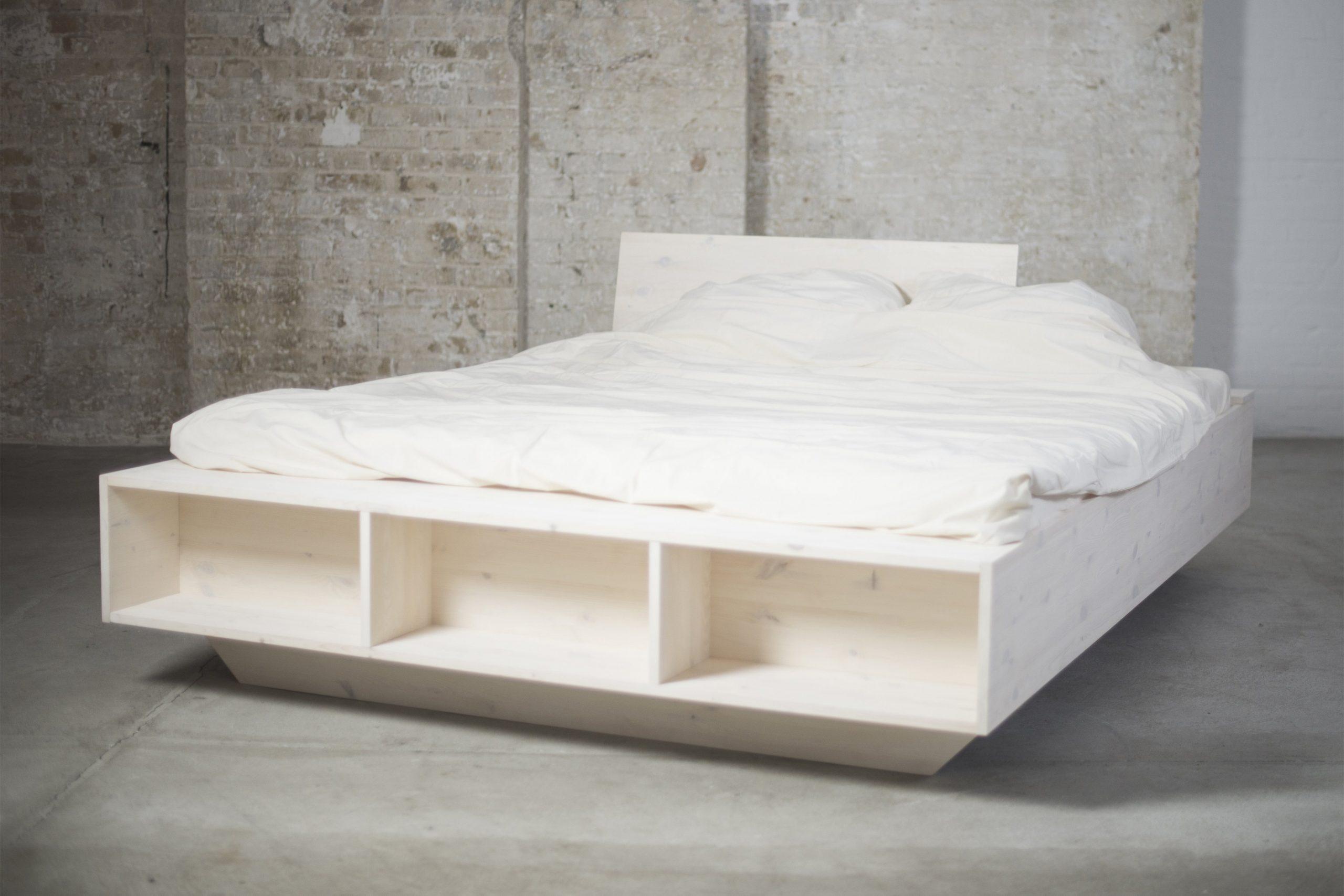 Full Size of Design Solid Wood Bed With Style And Storage Space Organic Runde Betten Jensen Bett Mit Rutsche Gästebett Poco 200x200 Komforthöhe Chesterfield Romantisches Bett Bett 1.40