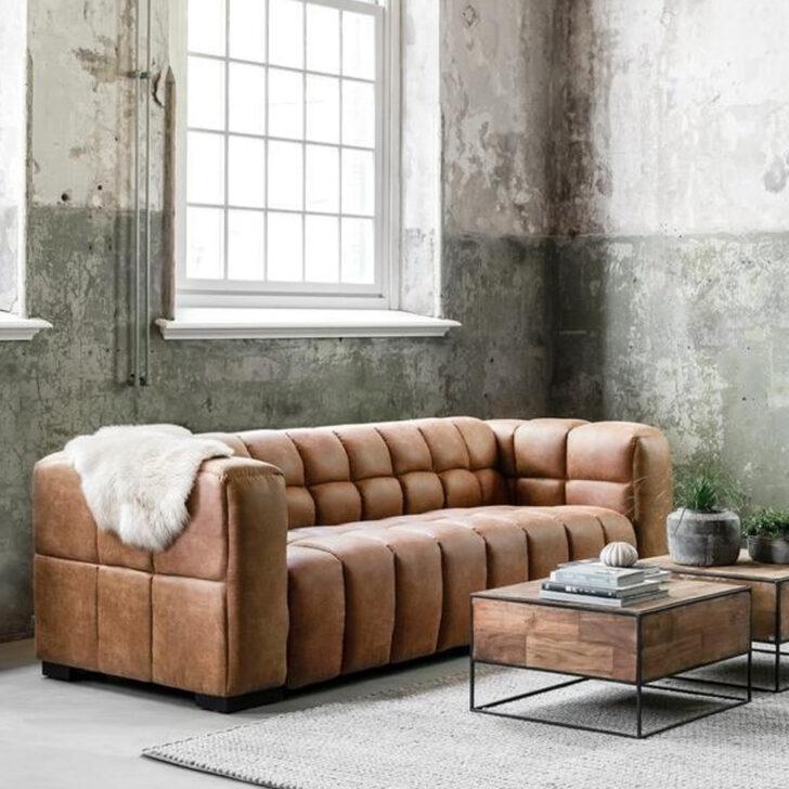 3 Sitzer Sofa Waves Leder Cognac Lounge Couch Garnitur New Flexform Home Affaire Heimkino Delife Türkische Sitzsack U Form Eck Boxspring Tom Tailor Sofa Sofa Cognac