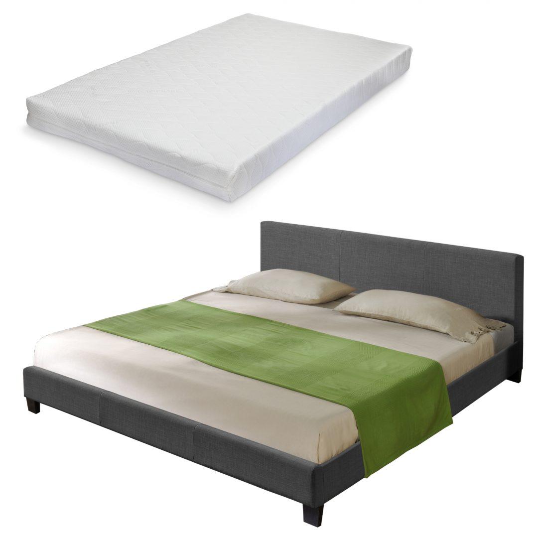 Large Size of Bett Matratze Textil Doppelbett Polsterbett 180x200cm Lattenrost Clinique Even Better Make Up Schlafzimmer Betten 140x200 80x200 Coole Mit Schreibtisch Bett Bett Matratze