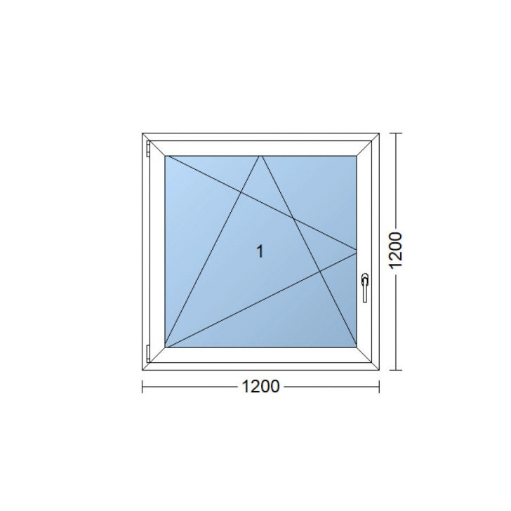 Medium Size of Kunststofffenster 120x120 Cm 1200x1200 Mm Wei Dreh Kipp Fenster Nach Maß Sichtschutz Beleuchtung Mit Rolladen Felux Runde Rahmenlose Absturzsicherung Rollos Fenster Fenster 120x120