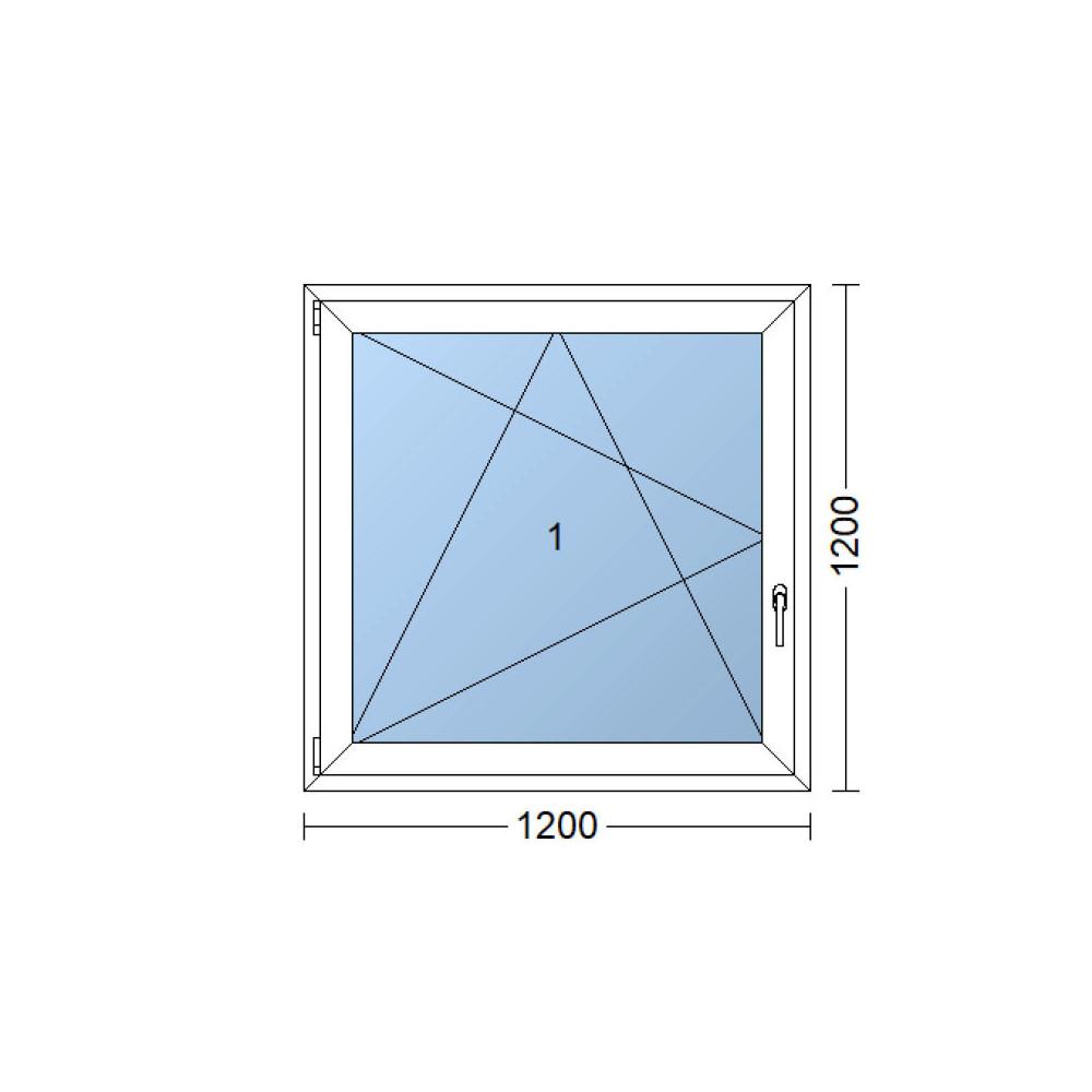 Full Size of Kunststofffenster 120x120 Cm 1200x1200 Mm Wei Dreh Kipp Fenster Nach Maß Sichtschutz Beleuchtung Mit Rolladen Felux Runde Rahmenlose Absturzsicherung Rollos Fenster Fenster 120x120