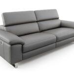 2 5 Sitzer Sofa Mit Relaxfunktion Couch 2 Sitzer City Leder 5 Sitzer   Grau 196 Cm Breit Elektrisch Designer Ledersofa Sofanella Esstisch Spiegelschrank Bad Sofa 2 Sitzer Sofa Mit Relaxfunktion