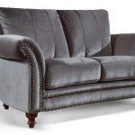 Barock Sofa Sofa Barock Sofa Couch 2 Sitzer In Samt Mit Dekorativen Nieten Und Schlaffunktion Federkern Relaxfunktion Hussen Big Günstig Heimkino Modulares Günstige Grau