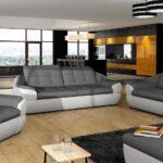 Couchgarnitur Leder Kaufen Sofa Garnitur 3 Teilig Echtleder Sofa Garnitur 3/2/1 Eiche Massivholz Moderne Garnituren 3 2 1 Kasper Wohndesign Schwarz Sofa Sofa Garnitur