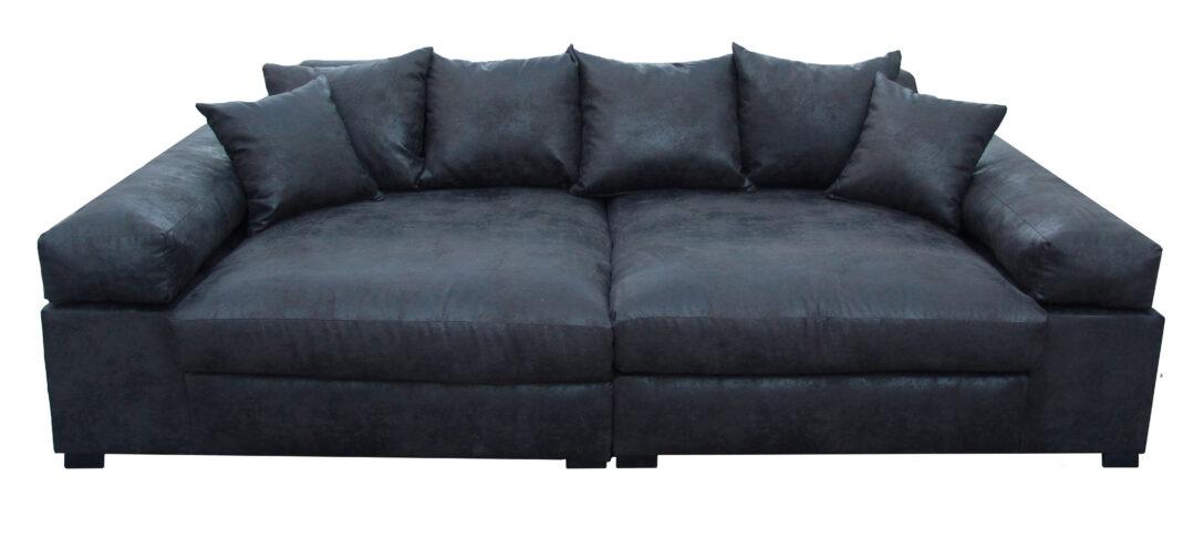 Large Size of Big Sofa Leder 3 Sitzer Vintagelederoptik Schwarz Vancover 9855 Ra Polyrattan 2 5 Mit Recamiere Home Affair Holzfüßen Weiß Grau Relaxfunktion Grün Leinen Sofa Big Sofa Leder