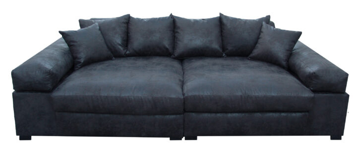 Medium Size of Big Sofa Leder 3 Sitzer Vintagelederoptik Schwarz Vancover 9855 Ra Polyrattan 2 5 Mit Recamiere Home Affair Holzfüßen Weiß Grau Relaxfunktion Grün Leinen Sofa Big Sofa Leder