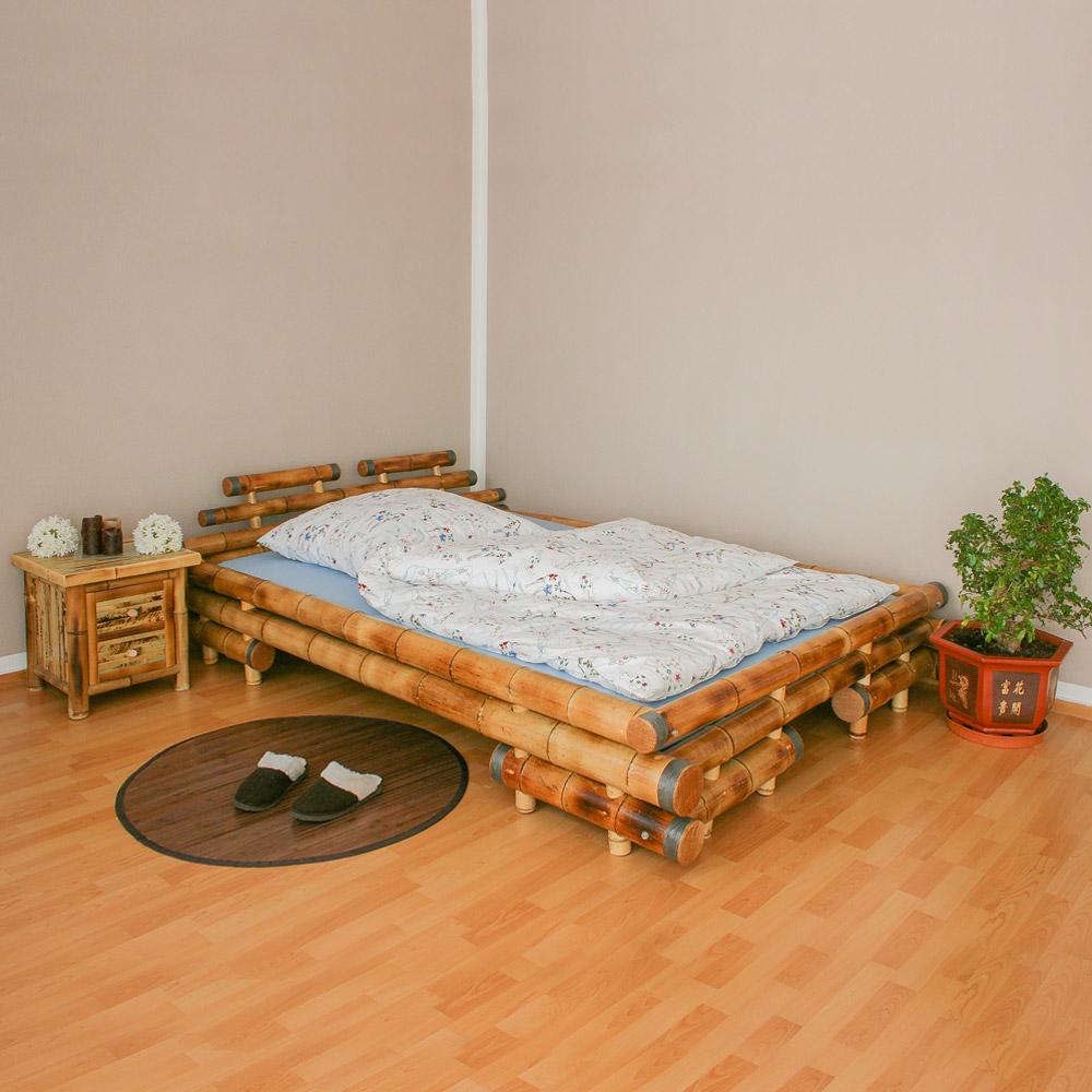 Full Size of Bambus Bett Bambusbett 180 200 Braun Schalfzimmer Homestyle4u Betten überlänge 90x200 Meise Schramm Mit Stauraum Matratze Jugend Einzelbett Bette Starlet Bett Bambus Bett
