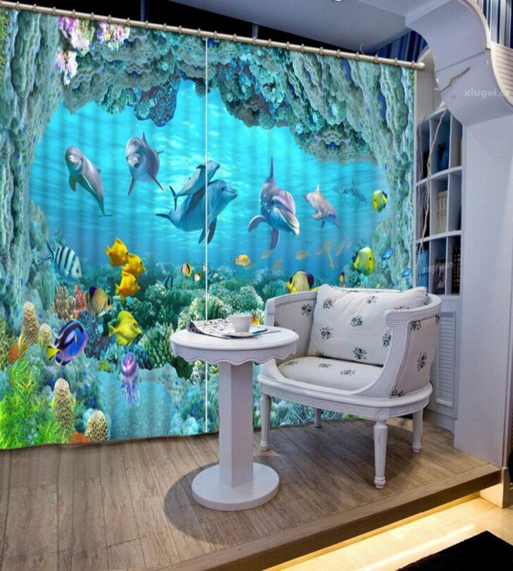 Medium Size of Vorhänge Vorhang Luxus Vorhnge Unterwasserwelt Küche Schlafzimmer Wohnzimmer Regale Regal Weiß Sofa Kinderzimmer Kinderzimmer Vorhänge