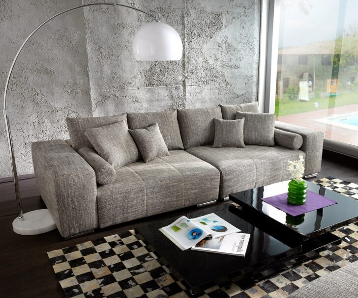 Medium Size of Big Sofa Mit Hocker Marbeya 285x115 Cm Hellgrau Couch Mbel Sofas Lila Schlaffunktion Auf Raten 3 2 1 Sitzer Relaxfunktion U Form Kleines Regal Schubladen Bett Sofa Big Sofa Mit Hocker