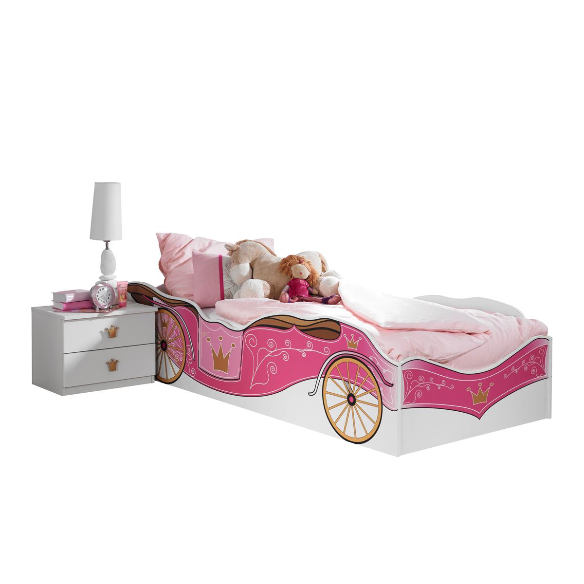 Full Size of Prinzessinen Bett Rauch Packs Kate In Alpinwei Mit Absetzung Printdekor Prinzessin Betten Für Teenager Platzsparend Bambus 120x200 Bettkasten Stapelbar Bett Prinzessinen Bett