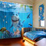 Kinderzimmer Vorhänge Kinderzimmer Vorhänge Vorhnge 3d Foto Druck Vorhang Shark Schlafzimmer Wohnzimmer Regal Küche Regale Sofa Weiß