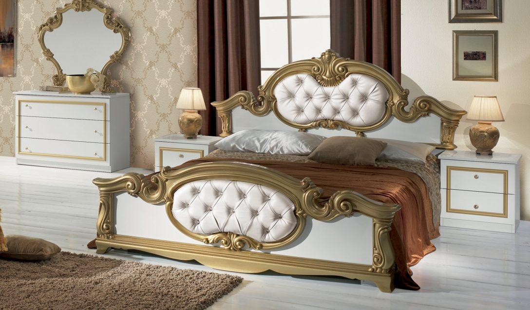 Large Size of Bett Barocco In Weiss Gold Barock Design 180x200 Cm Mit 140x200 Weiß Schlafzimmer Betten Günstig Möbel Boss Bettkasten Eiche 2m X Nolte Schubladen Großes Bett Bett Barock