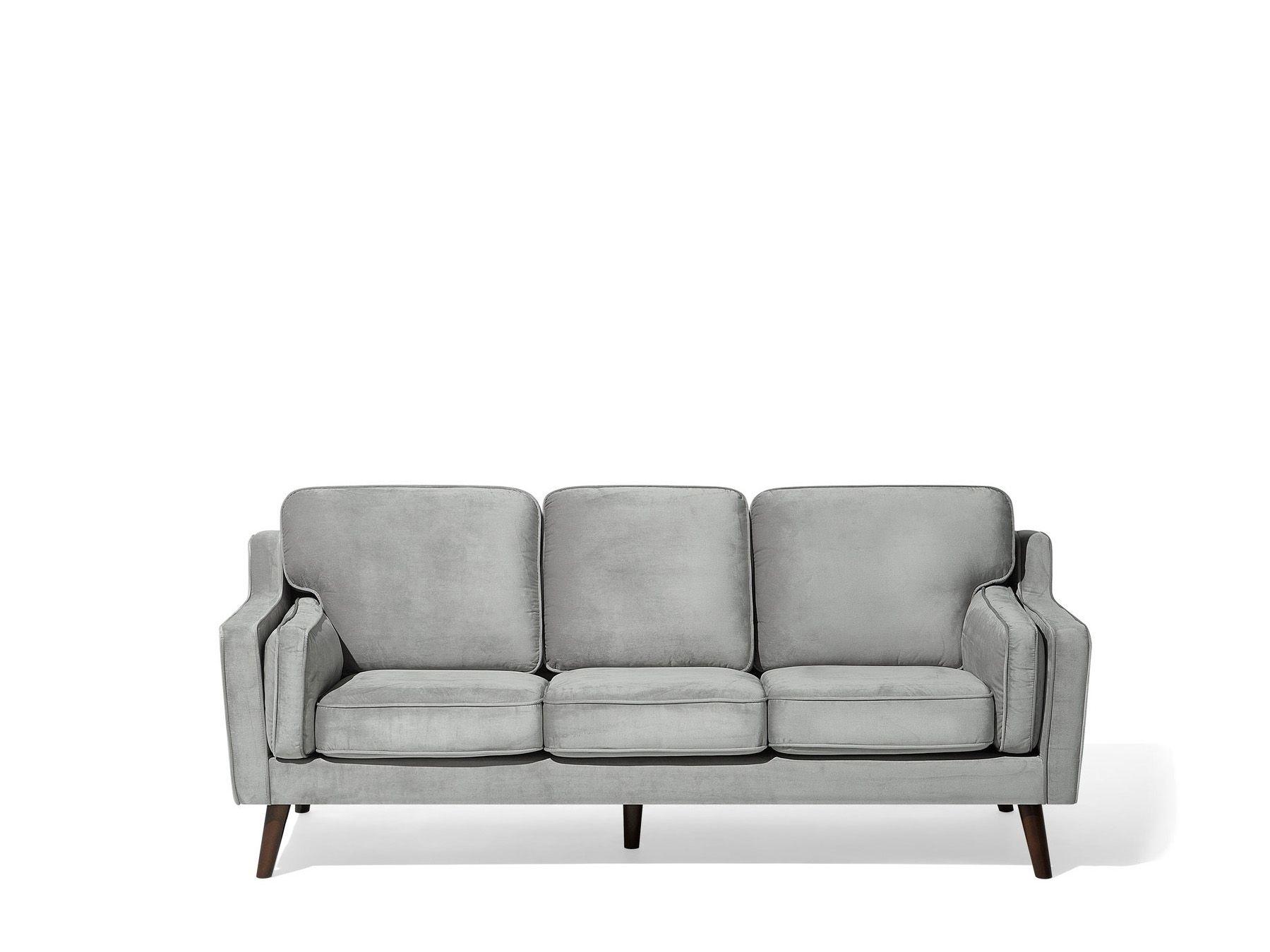 Full Size of Modernes Sofa Aus Samtstoff In Hellgrau Couch 3er Sitzer Lokka Ebay 2 Mit Schlaffunktion Home Affaire Big Landhausstil Stoff Husse Elektrisch Schilling Sofa Modernes Sofa