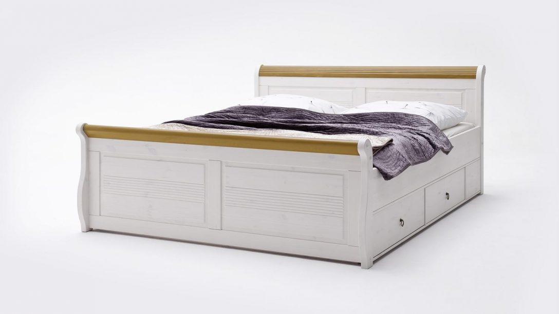 Large Size of Bett Antik Komfortbett Oslo Aus Kiefer Massiv Wei 180x200cm Barock 140x200 Ohne Kopfteil Poco Betten Bambus Eiche Sonoma Breite Japanisches Ruf Mit Ausziehbett Bett Bett Antik