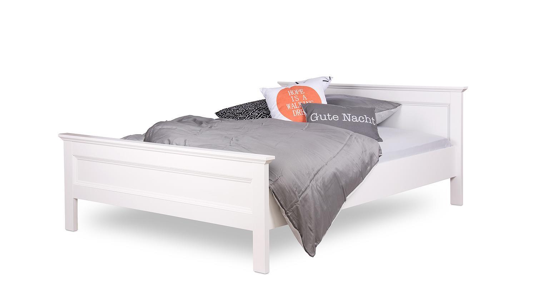 Full Size of Betten 140x200 Weiß Bett Landwood Bettgestell In Wei Mit Kopfteil Cm Landhausstil Flexa Schlafzimmer Kommode Amerikanische Berlin Tagesdecken Für Bad Bett Betten 140x200 Weiß