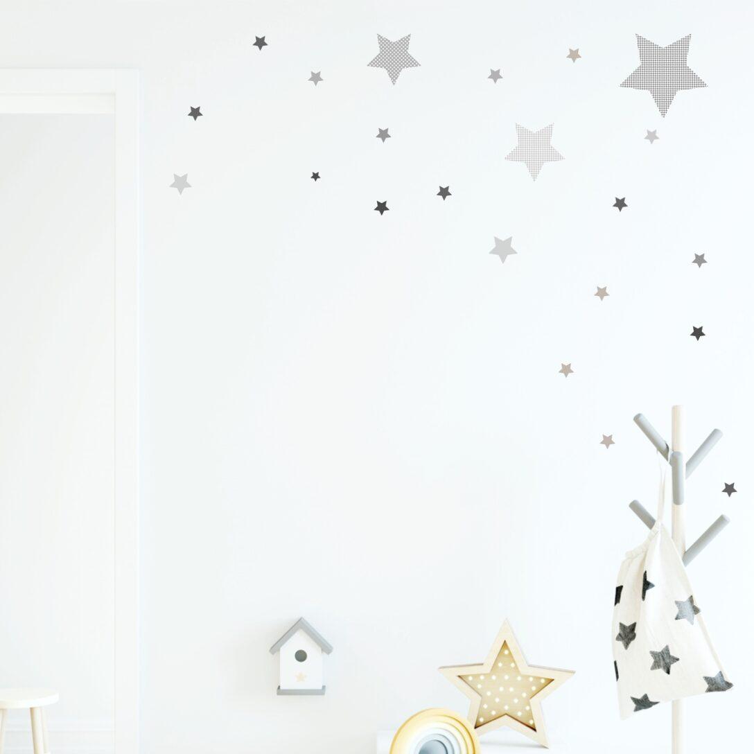 Large Size of Wandaufkleber Kinderzimmer Wandsticker Stern Sternen Set Grau Mit Mustern Regal Regale Weiß Sofa Kinderzimmer Wandaufkleber Kinderzimmer