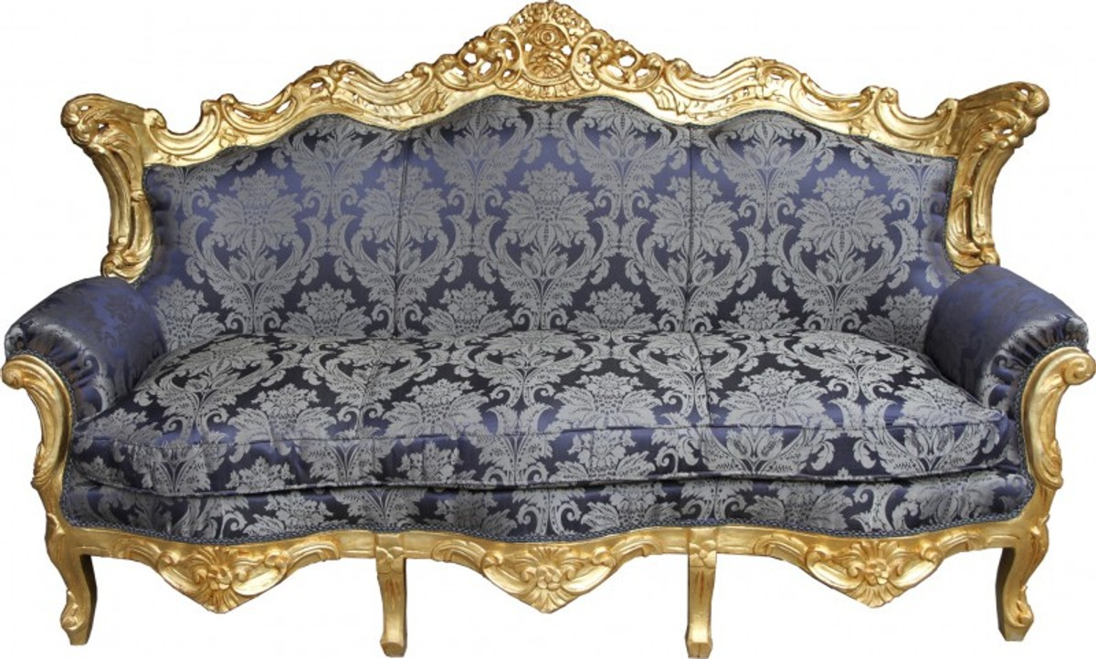 Full Size of Casa Padrino Barock Sofa Master Royal Blau Muster Gold Mit Abnehmbaren Bezug Schlafsofa Liegefläche 180x200 München Großes L Form Büffelleder Sofa Barock Sofa