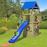 Spielanlage Spielturm Black Hawk Multi Play Mit Rutsche Bei Sitzgruppe Garten Holzhaus Kind Loungemöbel Holz Spielhaus Kunststoff Holzbank Vertikaler Garten Spielanlage Garten