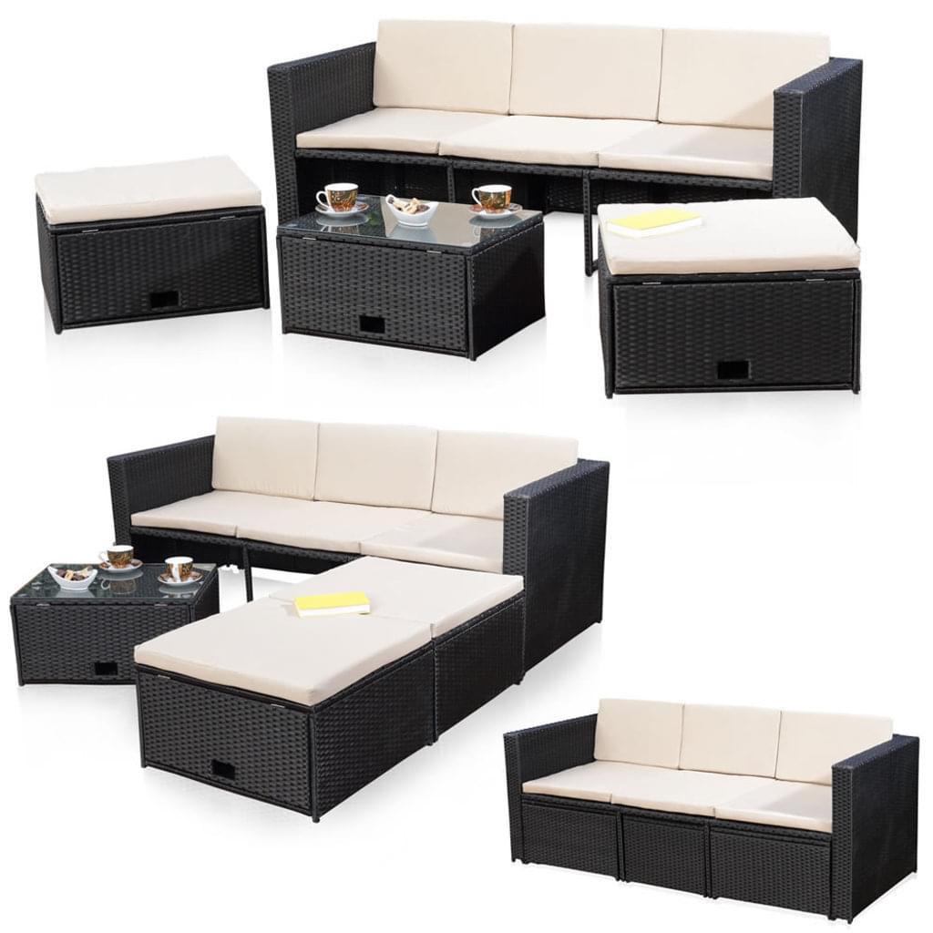 Full Size of Polyrattan Sofa Lounge Outdoor 2 Sitzer Balkon Set Couch Grau Ausziehbar Tchibo Garden Rattan 2 Sitzer Gartensofa Rattanmbel Schwarz Sitzgruppe Poly Und Real W Sofa Polyrattan Sofa