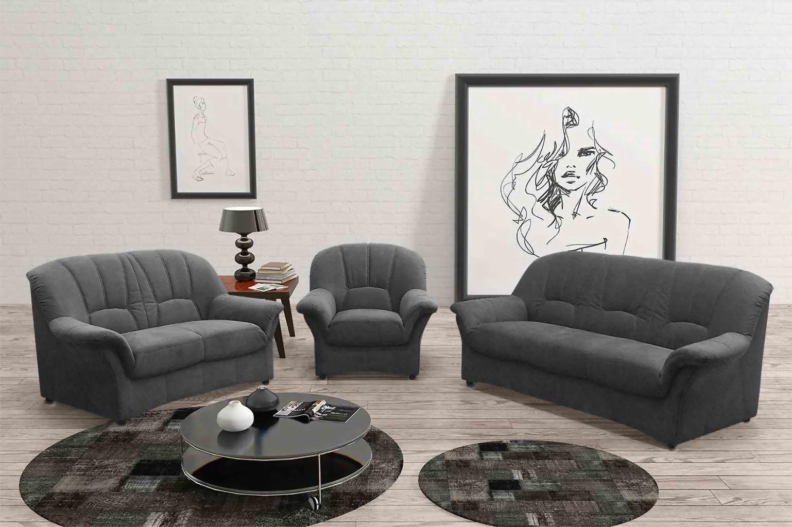 Full Size of Sofa Garnitur 3 Teilig Luxus Mit Recamiere 2 1 Sitzer Relaxfunktion Federkern Dreisitzer Für Esszimmer Kleines Wohnzimmer Big Xxl Leder Led Sofa Sofa Garnitur 3 Teilig