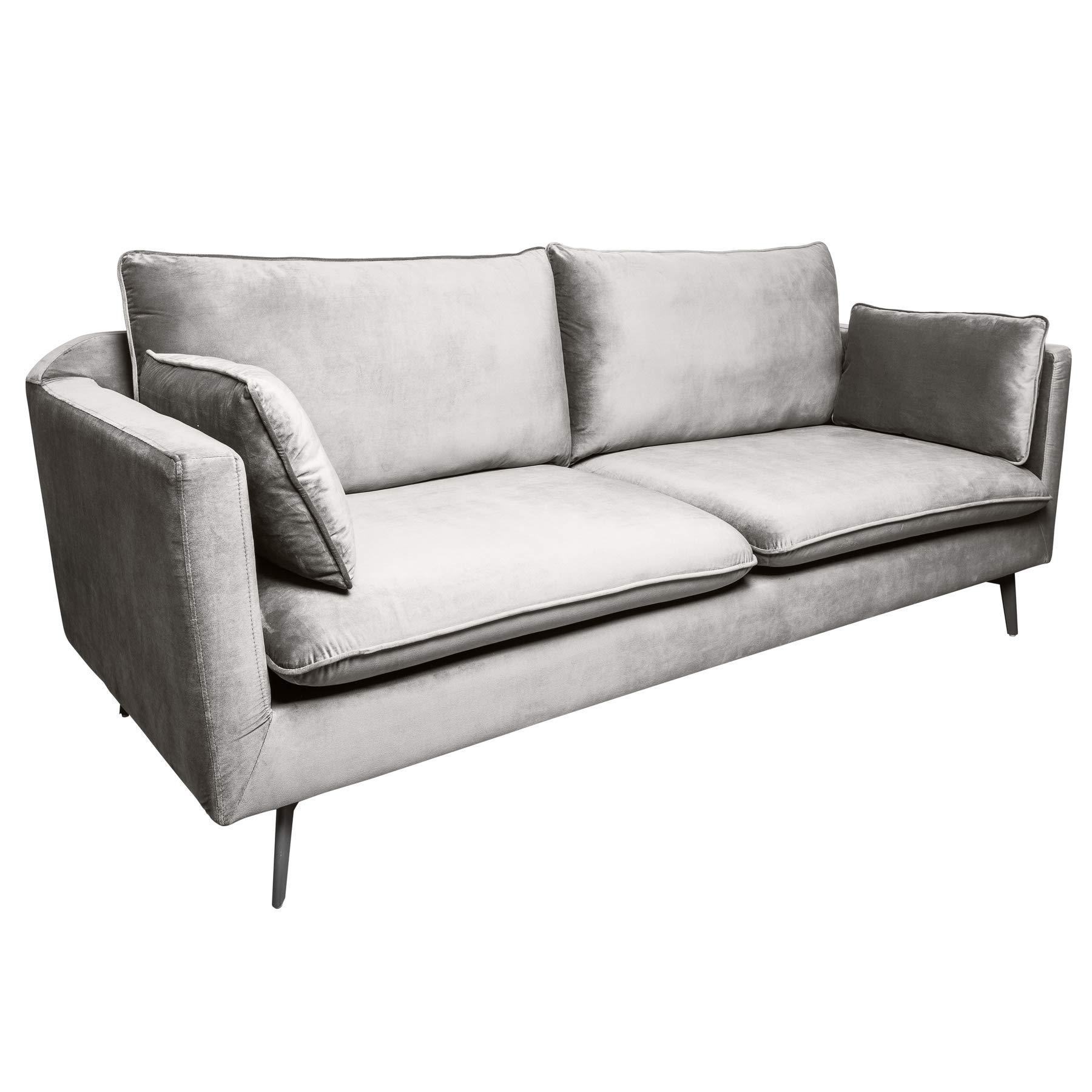 Full Size of 3er Sofa Riess Ambiente Design Famous Silbergrau 210cm Samt Big Grau Xora Schlaf Mit Led Reiniger 3 Sitzer Chesterfield Günstig Relaxfunktion Schlaffunktion Sofa 3er Sofa