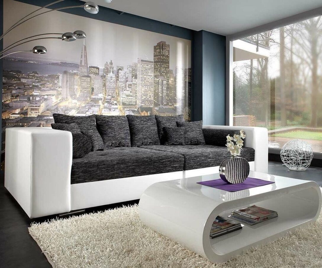 Large Size of Weißes Sofa Bigsofa Marlen 300x140 Cm Weiss Schwarz Couch Mbel Sofas Big Grau Leder Home Affaire Xxxl Lounge Garten Indomo Arten Mit Relaxfunktion Sofa Weißes Sofa