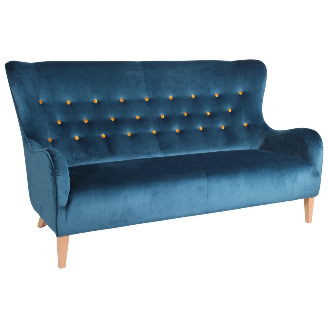 Large Size of Sofa Blau 3 Sitzer Gelbe Knpfe Samtvelours Online Bei Mit Abnehmbaren Bezug Relaxfunktion Ohne Lehne Verstellbarer Sitztiefe Angebote In L Form Hussen Für Sofa Sofa Blau