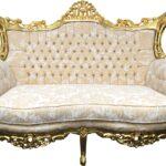Sofa Barock Sofa Sofa Barock Casa Padrino 2er Creme Muster Gold Antik Stil Bezug Ecksofa Mit Ottomane Schlaffunktion Modulares Kleines Wohnzimmer Sitzhöhe 55 Cm Neu Beziehen