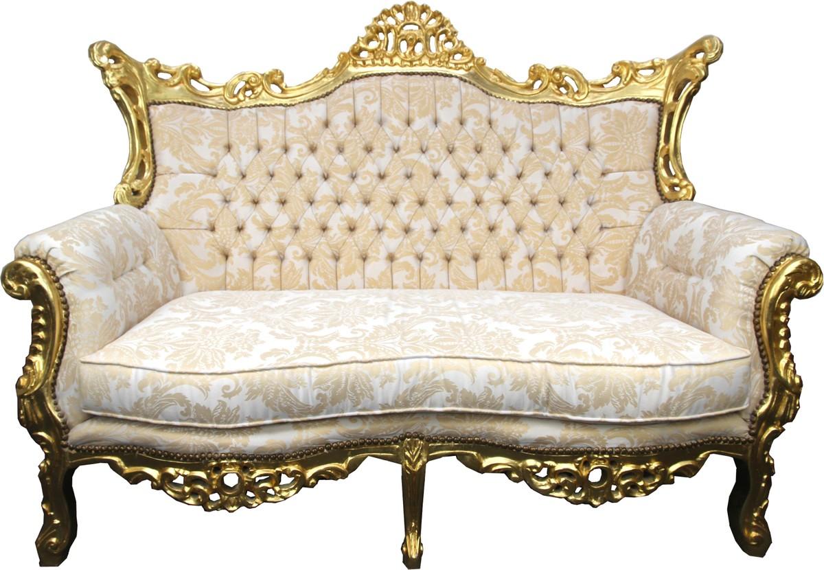 Full Size of Sofa Barock Casa Padrino 2er Creme Muster Gold Antik Stil Bezug Ecksofa Mit Ottomane Schlaffunktion Modulares Kleines Wohnzimmer Sitzhöhe 55 Cm Neu Beziehen Sofa Sofa Barock