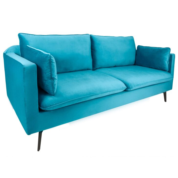 Medium Size of Riess Ambiente Design 3er Sofa Famous Aqua Blau 210cm Samt Spannbezug Tom Tailor Flexform Landhausstil U Form Weißes Hersteller Verkaufen Weiß Grau Led Erpo Sofa Sofa Samt