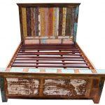 Bett Vintage Bett Bett Vintage Aus Recycleholz Modell 3 154x166x217 Cm Sofa Mit Bettkasten 90x200 Lattenrost Und Matratze Runde Betten Aufbewahrung Stauraum Krankenhaus King