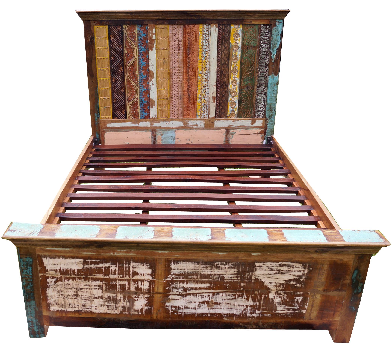 Full Size of Bett Vintage Aus Recycleholz Modell 3 154x166x217 Cm Sofa Mit Bettkasten 90x200 Lattenrost Und Matratze Runde Betten Aufbewahrung Stauraum Krankenhaus King Bett Bett Vintage