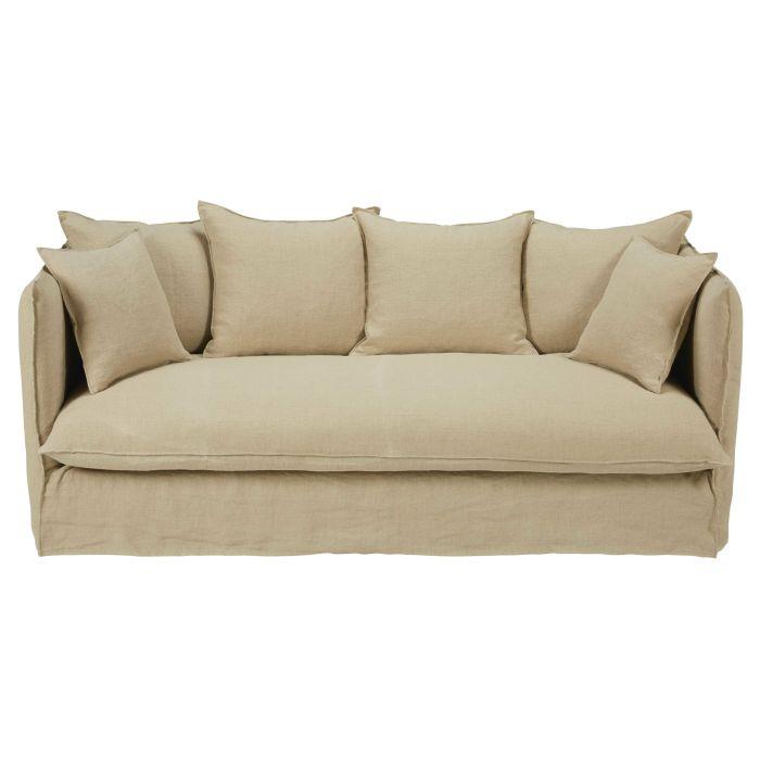 Full Size of Big Sofa Leinenstoff Reinigen Leinen Holz Leinenbezug Weiss Baumwolle Couch Bezug Hussen Stoff Waschen Beige Grau 3 4 Sitzer Mit Aus Beigem Gewaschenem Louvre Sofa Sofa Leinen