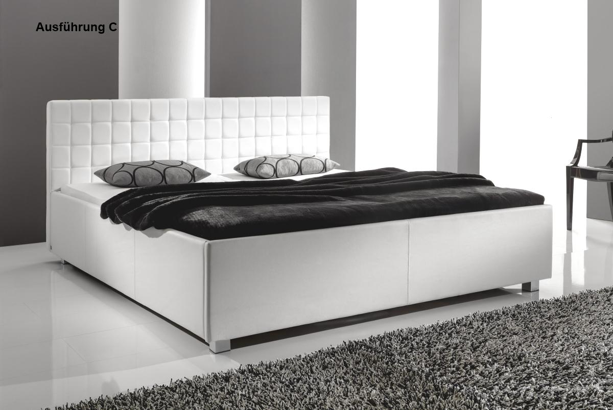 Full Size of Bett Schwarz Weiß Designer Lederbett Polsterbett Weiss 3 Verschiedene Kopfteile 140x200 Mit Gepolstertem Kopfteil Weißes 90x200 Betten Für übergewichtige Bett Bett Schwarz Weiß