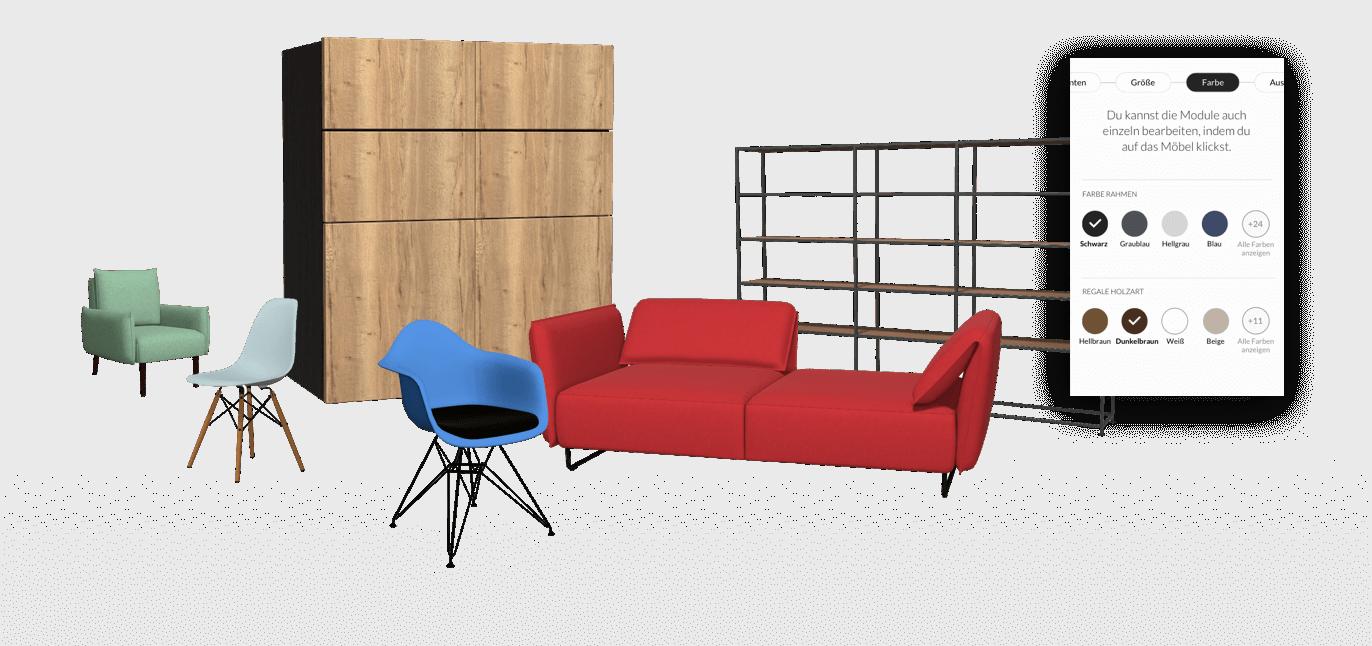 Full Size of Sofa Konfigurator Modularer 3d Produkt Fr Ihren Ecommerce Erfolg Roomle Rundes Modulares Für Esszimmer 3 2 1 Sitzer Big Kaufen Abnehmbarer Bezug Halbrund Sofa Sofa Konfigurator