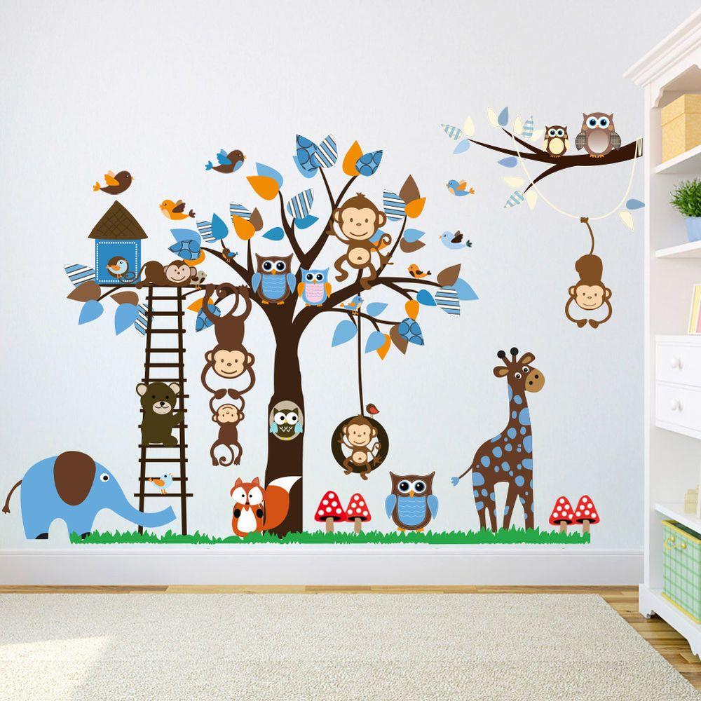Full Size of Wandtattoo Wandaufkleber Kinderzimmer Tiere Wandsticker Affe Regal Weiß Regale Sofa Kinderzimmer Wandaufkleber Kinderzimmer