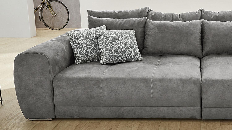 Full Size of Xxl Sofa Grau Big Moldau Couch In Microfaser Mit Kissen Togo Hussen 3 2 1 Sitzer 3er Relaxfunktion U Form Chesterfield Günstig Wildleder L Schlaffunktion Sofa Xxl Sofa Grau