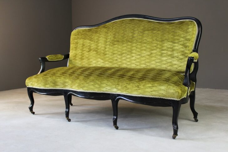 Medium Size of Canape Sofa Antique Victorian Ebonised Green Upholstered Sofort Lieferbar Himolla Graues 2 Sitzer Blau Big L Form Modernes Halbrundes In Beziehen Brühl Ligne Sofa Canape Sofa