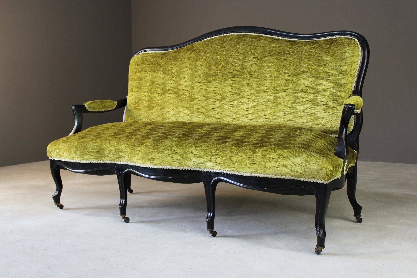 Full Size of Canape Sofa Antique Victorian Ebonised Green Upholstered Sofort Lieferbar Himolla Graues 2 Sitzer Blau Big L Form Modernes Halbrundes In Beziehen Brühl Ligne Sofa Canape Sofa