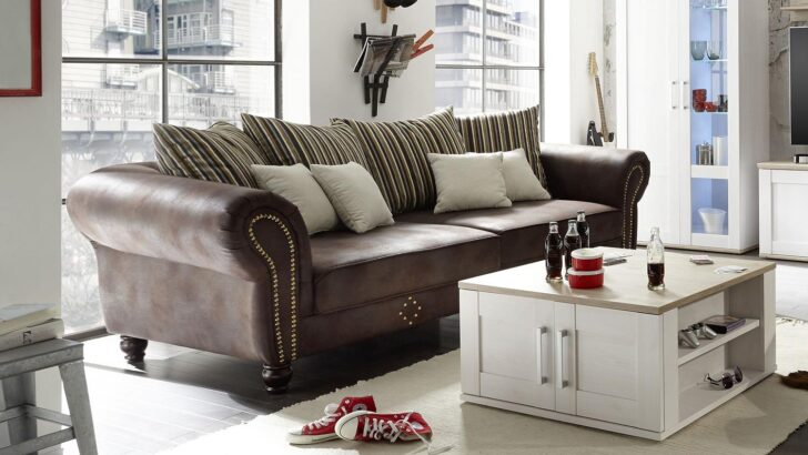 Medium Size of Big Sofa Braun Groß Schlaf Mit Bettkasten Schlaffunktion Federkern Sam Togo Leder Dauerschläfer Schlafsofa Liegefläche 180x200 Cognac L Form Kunstleder Sofa Big Sofa Braun