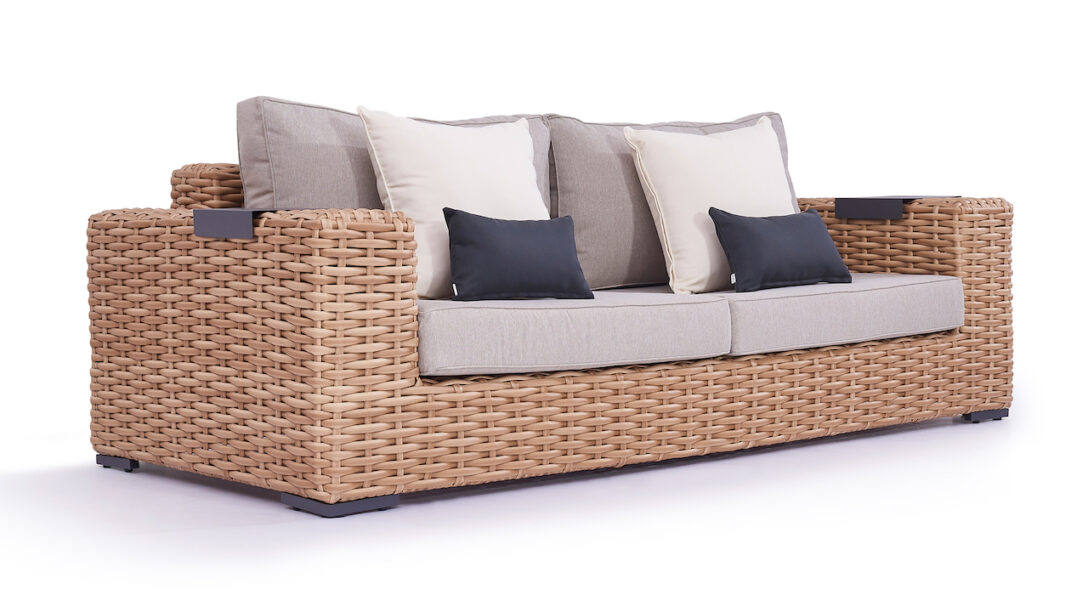Large Size of Polyrattan Sofa Lounge Couch Grau Tchibo Rattan Outdoor Gartensofa Set Garden 2 Sitzer Balkon Ausziehbar 2 Sitzer Molly 235 Cm Living Zone Gartenmbel U Form Sofa Polyrattan Sofa