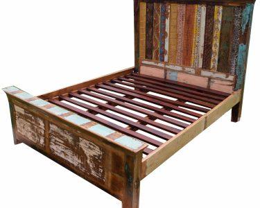 Bett Vintage Bett Bett Aus Recycleholz Modell 3 154x166x217 Cm Einzelbett Betten Ohne Kopfteil Mit Bettkasten 180x200 Schwarz Weiß Hohe Modern Design Amerikanisches Kopfteile