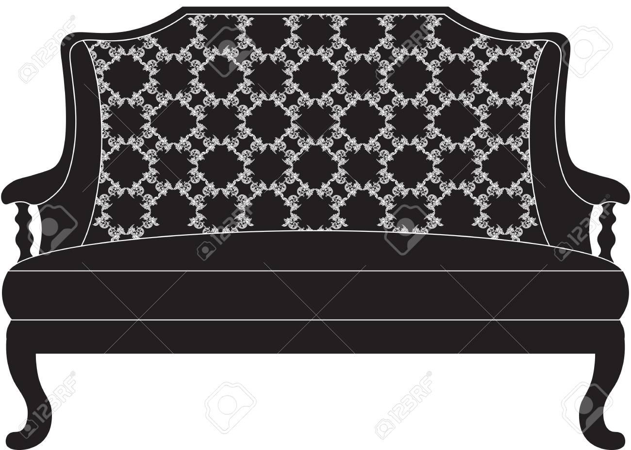 Full Size of Weinlese Barock Sofa Mit Luxurisen Ornamenten Elegante Verstellbarer Sitztiefe Kolonialstil Creme Karup L Form 3 Sitzer Relaxfunktion 2 5 Weiches Ligne Roset Sofa Barock Sofa