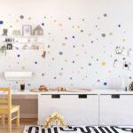 Wandaufkleber Kinderzimmer Hand Drawn Polka Dots Wall Decals Multicolored Regal Sofa Weiß Regale Kinderzimmer Wandaufkleber Kinderzimmer