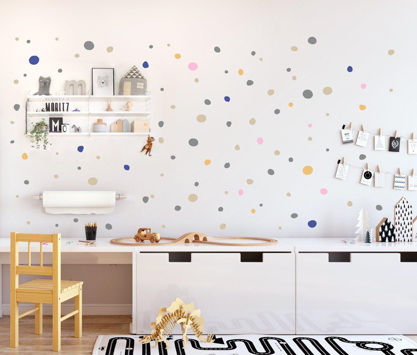 Full Size of Wandaufkleber Kinderzimmer Hand Drawn Polka Dots Wall Decals Multicolored Regal Sofa Weiß Regale Kinderzimmer Wandaufkleber Kinderzimmer