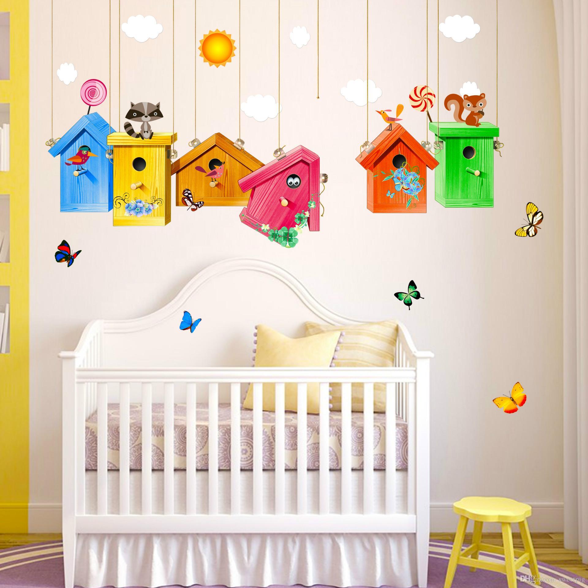 Full Size of Cartoon Bunte Vogelkfig Wandaufkleber Pvc Tapeten Für Die Küche Regal Sofa Fototapeten Wohnzimmer Regale Schlafzimmer Weiß Kinderzimmer Tapeten Kinderzimmer