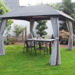 Gartenüberdachung Garten Gartenüberdachung Leco Pavillon Milena Dach Pergola Terrasse Garten Berdachung