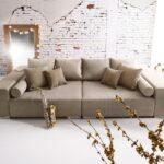 Big Sofa Grau Marbeya 280x115 Cm Braun 10 Kissen Ec Graues Zweisitzer Sitzsack Muuto Langes Poco Kleines Wohnzimmer Chesterfield Modulares Reiniger Benz Leder Sofa Big Sofa Grau