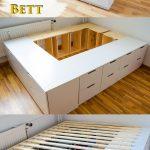 Stabiles Bett Diy Ikea Hack Plattform Selber Bauen Aus Kommoden Rausfallschutz Rückwand Rattan Günstige Betten 140x200 90x200 Weiß Wasser Podest Bett Stabiles Bett