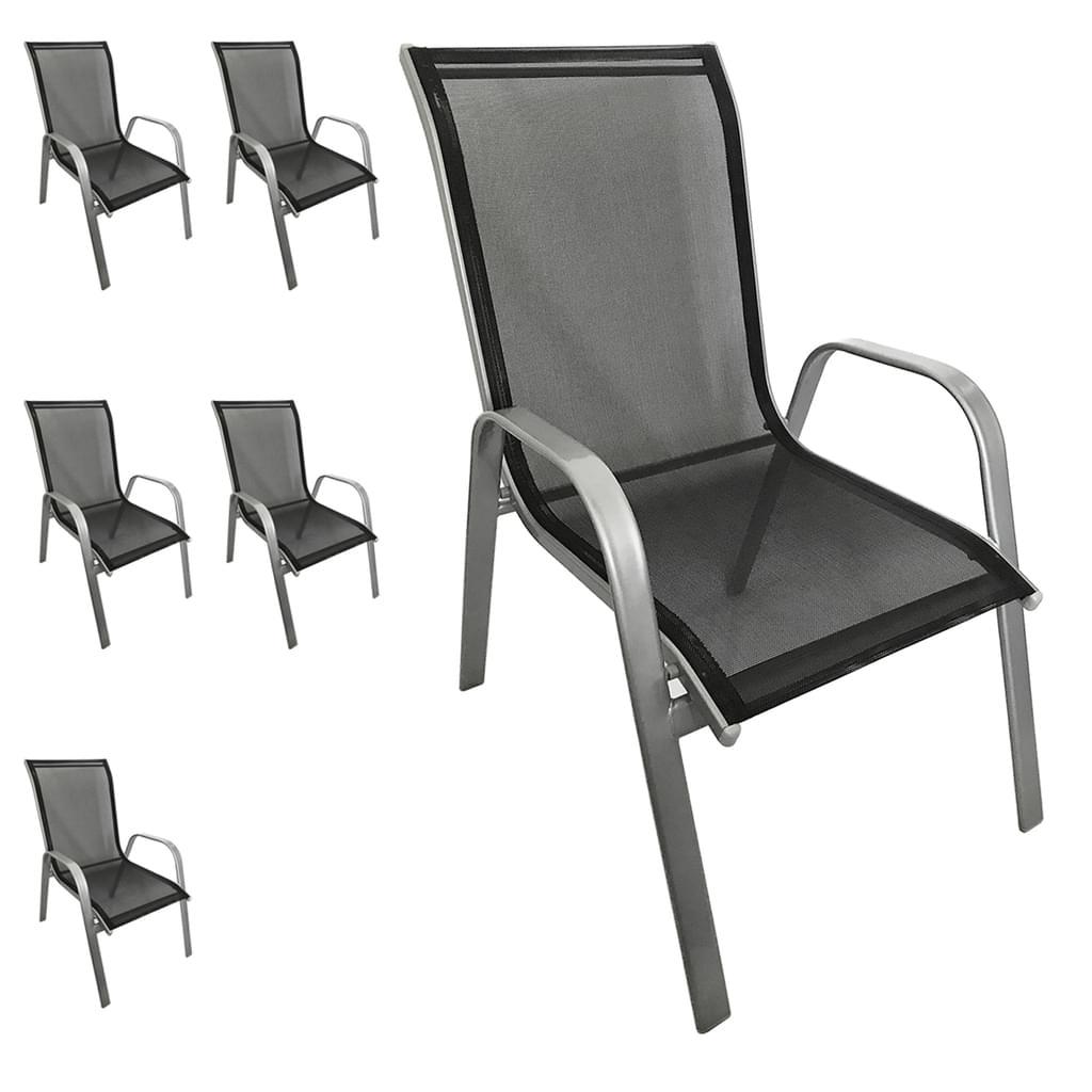 Full Size of Stapelstühle Garten 6 Stck Stapelstuhl Farbe Silber Schwarz Real Lounge Sessel Bewässerung Automatisch Schwimmbecken Beistelltisch Wasserbrunnen Pool Garten Stapelstühle Garten
